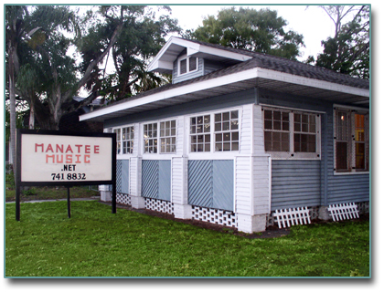 photo of manatee music storefront